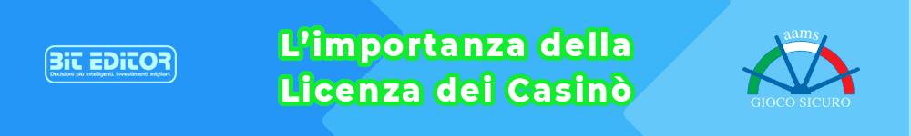casinò online 2021 - Licenza dei Casinò