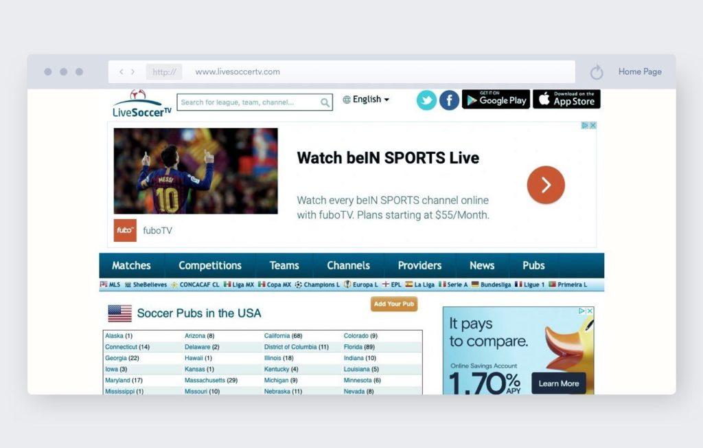 LiveSoccerTV - Calcio Streaming