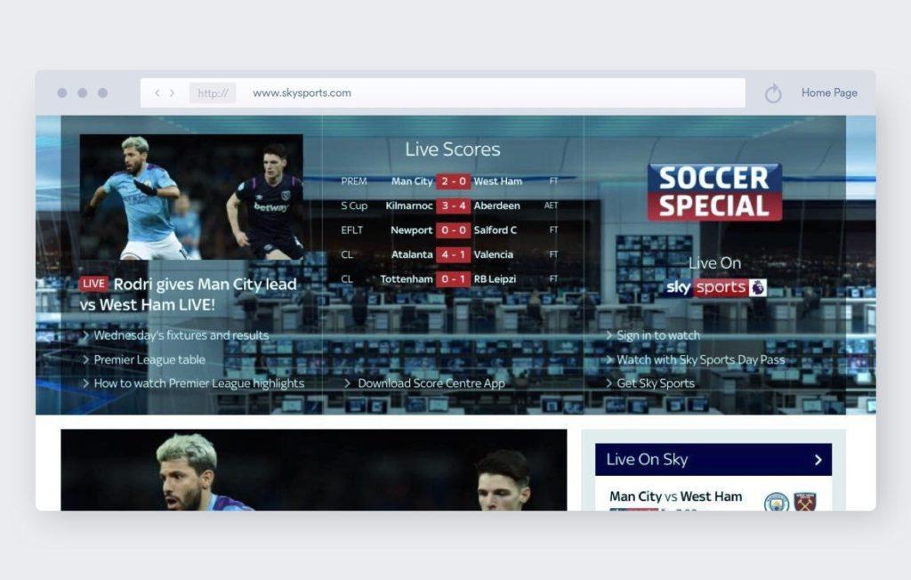 SkySports - calcio streaming