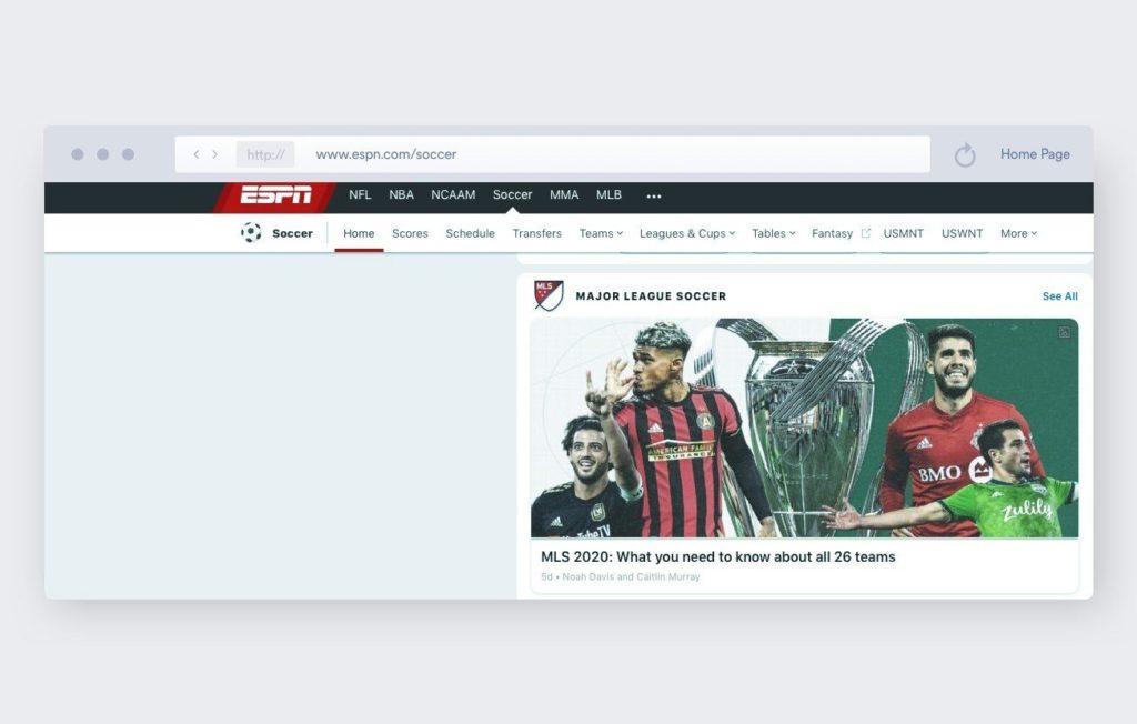 espn - calcio streaming